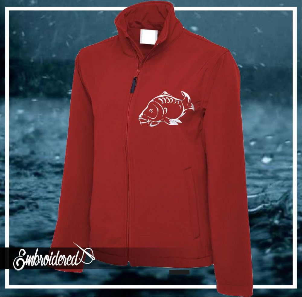 CLR001 EMBROIDERED SOFTSHELL JACKET RED